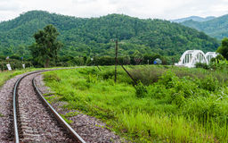 Tachompu Railway Viaduct on the North of thailand Stock Photo