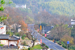 Tachuan village road Royalty Free Stock Photo