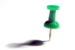 Tachuela de pulgar verde Fotografía de archivo libre de regalías