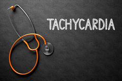 Tachycardia Concept on Chalkboard. 3D Illustration. Stock Photography