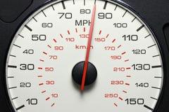 Tachymètre à 85 M/H Photographie stock