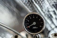 Fond d'argent de tachymètre de moto Image libre de droits