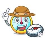 Tachymètre d'explorateur d'isolement avec dans la mascotte illustration de vecteur