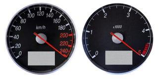 tachymètre d'indicateur de vitesse photos stock