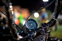 Tachymètre d'une moto Image libre de droits