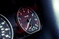 Tachymètre de voiture Photographie stock libre de droits