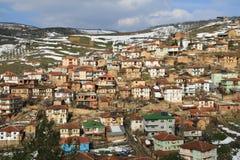 Tacir, turkey. Overview of the village of tacir, iznik, turkey stock photo