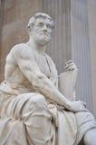 Tacitus skulptur i vienna Arkivbild