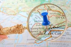 tack mapa Toronto Obraz Stock