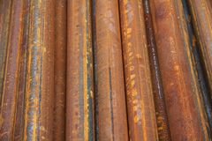 Tack of steel pipes Stock Images
