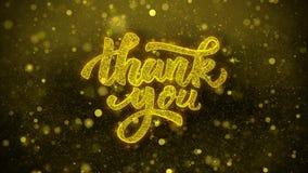 Tacka dig önskar hälsningskortet, inbjudan, berömfyrverkeri 1 lager videofilmer
