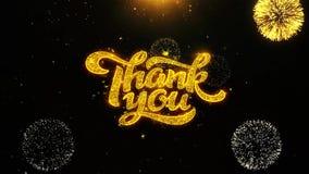 Tacka dig önskar hälsningskortet, inbjudan, berömfyrverkeri kretsade vektor illustrationer