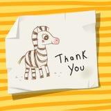 Tacka dig att älska och hjälpa djurkortet Arkivfoton