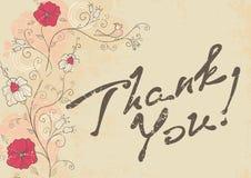 Tacka dig att card Royaltyfria Foton