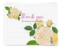 Tacka dig att card, abstrakt vattenfärgmålning på papper stock illustrationer