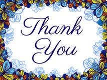 Tacka dig att card med färgglade blommor bröllop för romantiskt symbol för inbjudan för bakgrundseleganshjärtor varmt Stock Illustrationer