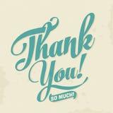Tacka dig att card - typografisk bakgrund för vektorn EPS10 Royaltyfri Bild