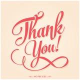 Tacka dig att card - typografisk bakgrund för vektorn EPS10 Royaltyfria Foton