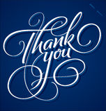 """""""Tacka dig"""" att hand bokstäver Royaltyfria Foton"""