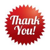 Tacka dig att märka (vektorn). Röd klistermärke. Symbol för rengöringsduk. royaltyfri illustrationer