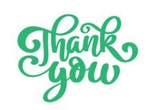 Tacka dig att räcka dragen text Moderiktigt handbokstävercitationstecken, modediagram, tappningkonsttryck för affischer och hälsn stock illustrationer