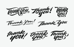 Tacka dig att räcka skriftlig bokstäver buntar 1 Fotografering för Bildbyråer