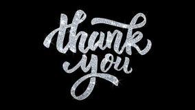 Tacka dig blinkatext önskar partikelhälsningar, inbjudan, berömbakgrund vektor illustrationer