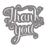 Tacka dig bokstäver på grå färger Arkivfoton