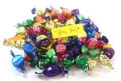 Tacka dig choklader royaltyfri fotografi