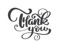 Tacka dig den handskrivna inskriften Hand dragen bokstäver Tackar kalligrafi sammansättning för kortet för stearinljuset för höst vektor illustrationer
