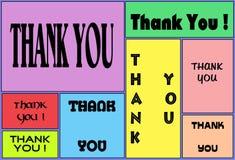 Tacka dig det elektroniska kortet för gillande för överföring royaltyfri illustrationer
