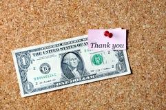 Tacka dig dollaren royaltyfria bilder