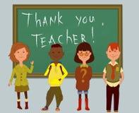 Tacka dig, lärare Royaltyfri Bild