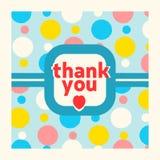 Tacka dig mallen för kortdesignen Fotografering för Bildbyråer