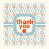 Tacka dig mallen för kortdesignen Royaltyfria Bilder