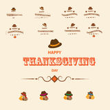 Tacka dig och Thanksqiving vektor illustrationer