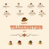Tacka dig och Thanksqiving royaltyfri illustrationer