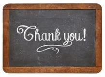 Tacka dig på svart tavla Royaltyfria Bilder