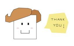 Tacka dig tecknade filmen Vektor Illustrationer