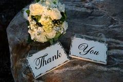 Tacka dig undertecknar Royaltyfria Bilder
