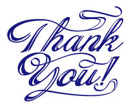 Tacka dig uttrycker den skriftliga handen Royaltyfria Bilder