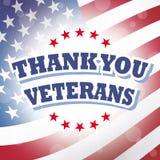Tacka dig veteran Arkivfoton