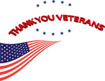 Tacka dig veteran arkivbild