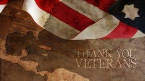 Tacka dig veteran Royaltyfri Bild