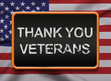Tacka dig veteran för att tjäna som USA Royaltyfria Foton