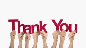 Tackar hållande övre för händer dig lager videofilmer