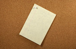 Tacked Paper Royalty Free Stock Photography
