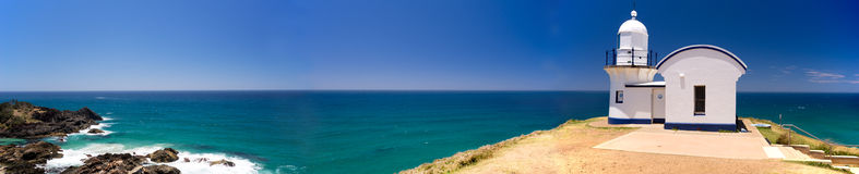 Tacking Point Lighthouse Australia Panorama Royalty Free Stock Image