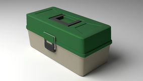 Tackle box. 3D generated tackle box on white background royalty free illustration