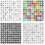 100 tackle icons set vector variant. 100 tackle icons set vector in 4 variant for any web design isolated on white Stock Photo